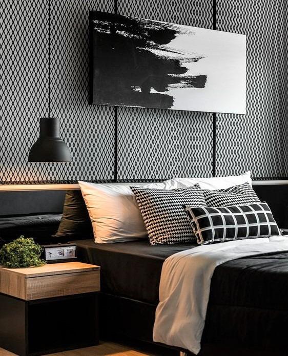 pareti moderni di colore scuro