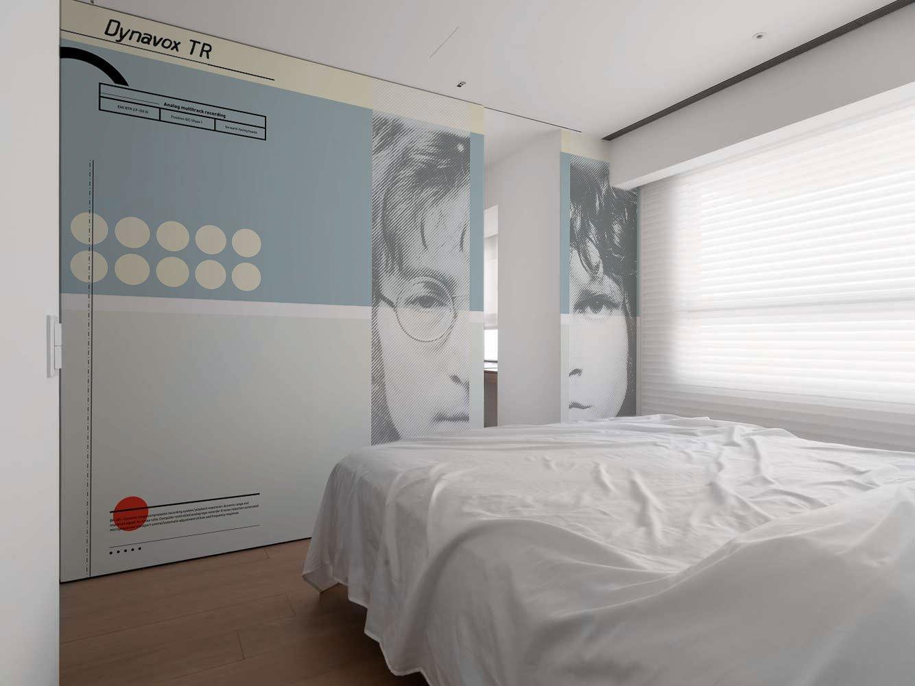 Camera da letto con carta da parati Legend