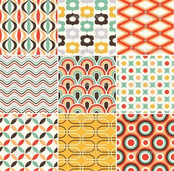pattern multicolor anni 70