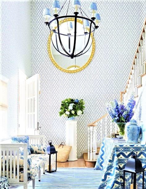 grande ingresso con tonalità blu