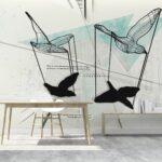 mesh bird ambiente azzurro
