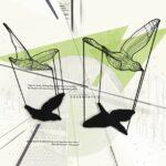 mesh birds verde carta da parati urban