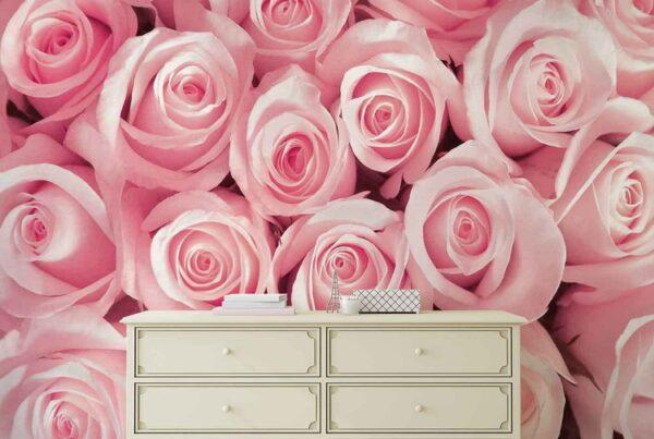 Carta da parati con le rose
